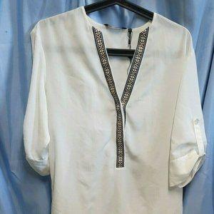ZOA New York Size S Tunic Small Blouse V Neck Boho